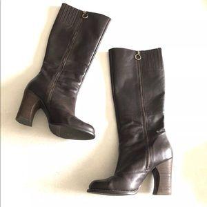 BCBG Generation Tall Riding Boots Chunky Heel